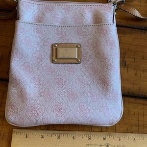 Light pink guess crossbody bag